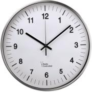hama 113977 ag 340 radio controlled dcf wall clock silver photo
