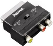 hama 42353 video adapter 3 rca female jacks 1xvideo audio lr scart male plug photo