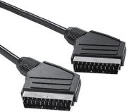 hama 43160 scart connecting cable plug scart plug 1m black photo