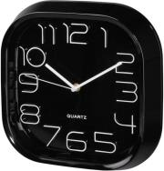 hama 123161 pg 280 wall clock silent black photo