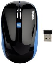 hama 134912 am 7600 wireless optical mouse black photo