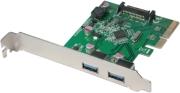 LOGILINK PC0080 USB 3.1 PCI-EXPRESS CARD 2X USB 3.1 GEN2 TYPE-A υπολογιστές   controllers