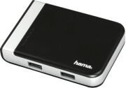 HAMA 54546 3-PORT USB 3.1 HUB/CARD READER INCL. USB-C ADAPTER BLACK/SILVER υπολογιστές   usb hubs