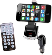 AKAI FMT-8118BT CAR PHONE HOLDER, FM TRANSMITTER, CHARGER WITH BT/USB/AUX-IN ήχος   εικόνα   mp3 players