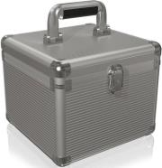 raidsonic icy box ib ac628 aluminium suitcase for 10x 25 35 hdd silver photo