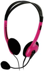 basicxl bxl headset 1 portable stereo headset pink photo