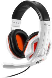 sharkoon rush er1 gaming stereo headset white orange photo
