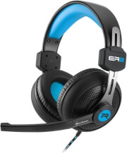 sharkoon rush er2 gaming stereo headset blue photo
