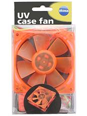 akasa ak 176or s 80mm orange uv case fan photo