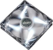 akasa ak fn054 quiet 80mm pearl white led fan photo