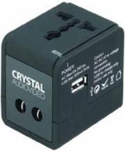 crystal audio travelcube universal travel power adapter reymatos eu uk us aus photo