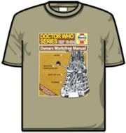 t shirt haynes manual dalek t shirt l photo