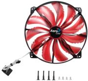 aerocool silent master red led fan 200mm photo