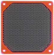 bitspower alumino mesh fan grill 120mm uv red black photo