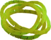 bitspower spiral cable housing 4mm 1m uv yellow photo