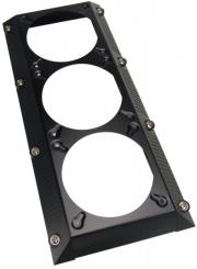 koolance 3x120mm fan radiator shroud black photo