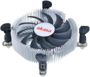 akasa ak cc7122bp01 low profile cpu cooler for intel lga775 lga115x 74mm pwm fan photo