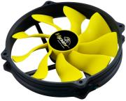 akasa ak fn073 viper r pwm fan 140mm black yellow photo