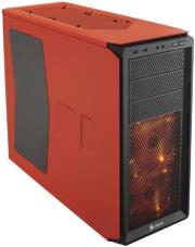 case corsair graphite series 230t windowed compact mid tower rebel orange photo