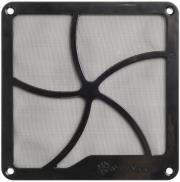 silverstone ff122b 120mm fan grille with magnet montage black photo