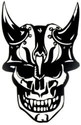 windowsticker skull 002 black photo