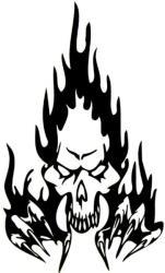windowsticker skull 014 black photo