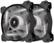 corsair air series sp120 led white high static pressure 120mm fan dual pack photo