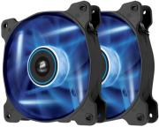 corsair air series sp120 led blue high static pressure 120mm fan dual pack photo