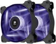 corsair air series sp120 led purple high static pressure 120mm fan dual pack photo