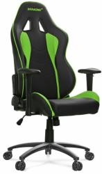 akracing nitro gaming chair black green photo