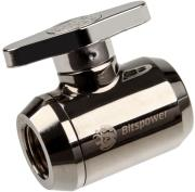 bitspower shutoff valve 1 4 inch silver handle black sparkle photo