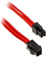 phanteks 4 pin atx12v extension 50cm sleeved red photo