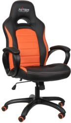 nitro concepts c80 pure gaming chair black orange photo