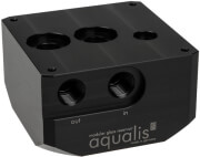 aqua computer pump adapter for d5 pumps compatible with aqualis base g1 4 photo
