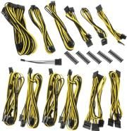 bitfenix alchemy 20 psu cable kit bqt series dpp black yellow photo