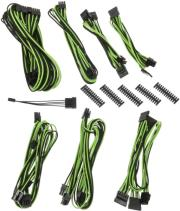 bitfenix alchemy 20 psu cable kit bqt series sp10 black green photo