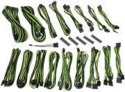 bitfenix alchemy 20 psu cable kit csr series black green photo