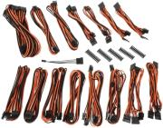 bitfenix alchemy 20 psu cable kit evg series black orange photo
