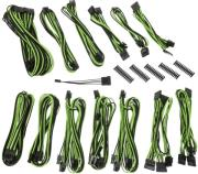 bitfenix alchemy 20 psu cable kit ssc series black green photo