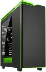 case nzxt h440 midi tower black green photo