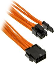 phanteks 6 2 pin pcie extension 50cm sleeved orange photo
