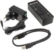 silverstone sst ep03 4 port usb 30 hub black photo