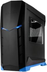 case silverstone sst rvx01ba w raven midi tower black blue window photo