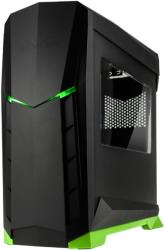 case silverstone sst rvx01ba w raven midi tower black green window photo