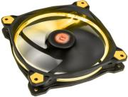 thermaltake riing 14 led fan yellow 140mm photo