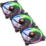 thermaltake riing 14 led rgb 256 colors high static pressure led radiator 140mm fan 3 pack photo
