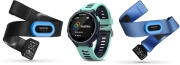 SPORTWATCH GARMIN FORERUNNER 735XT MIDNIGHT BLUE/FROST BLUE TRI BUNDLE gadgets   παιχνίδια   sportwatches