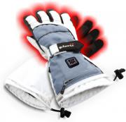 sunen glovii heated ski gloves light grey l photo