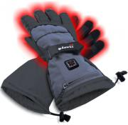 sunen glovii heated ski gloves dark grey xl photo