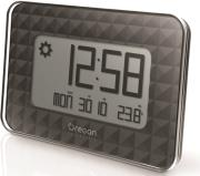 oregon scientific jw208 bk glaze digital wall clock weather station jumbo black photo
